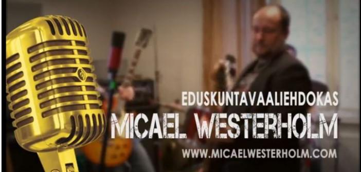 <center>Micael Westerholm Eduskuntavaaliehdokas, ps Mustasaari</center>