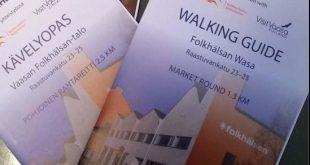 Kävelyoppaiden valmistelu alkoi elokuussa 2014. Työryhmään kuului aluksi viisi vapaaehtoista senioria Folkhälsanin Resurspool i Österbottenista, mutta ajan kuluessa työryhmä on laajentunut 13 henkilöön.